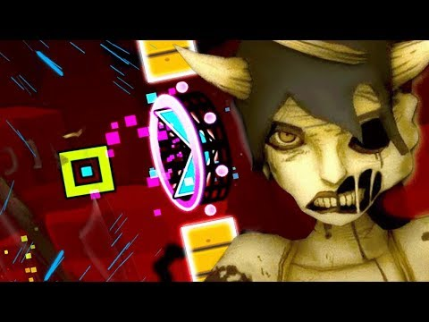 CHASED BY A HUGE ALICE ANGEL! | Geometry Dash (BENDY AND THE INK MACHINE CUSTOM LEVELS)