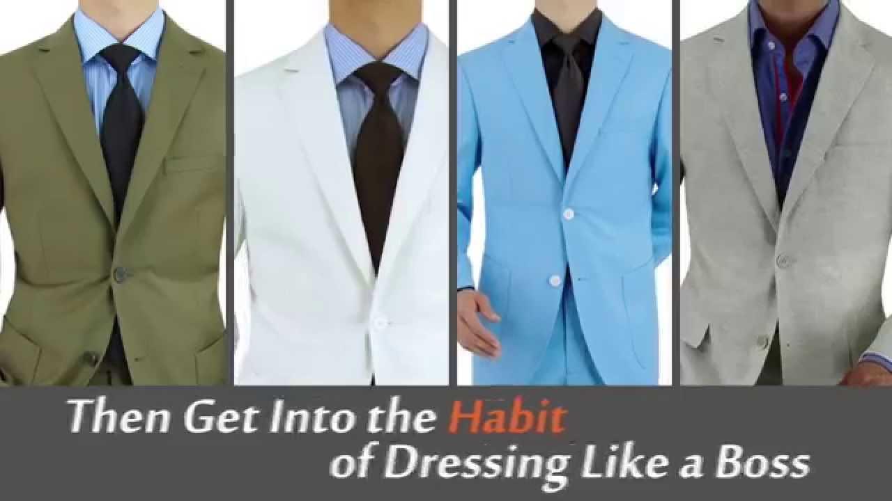 Get Into The Habit - The Mens Suit Habit - YouTube