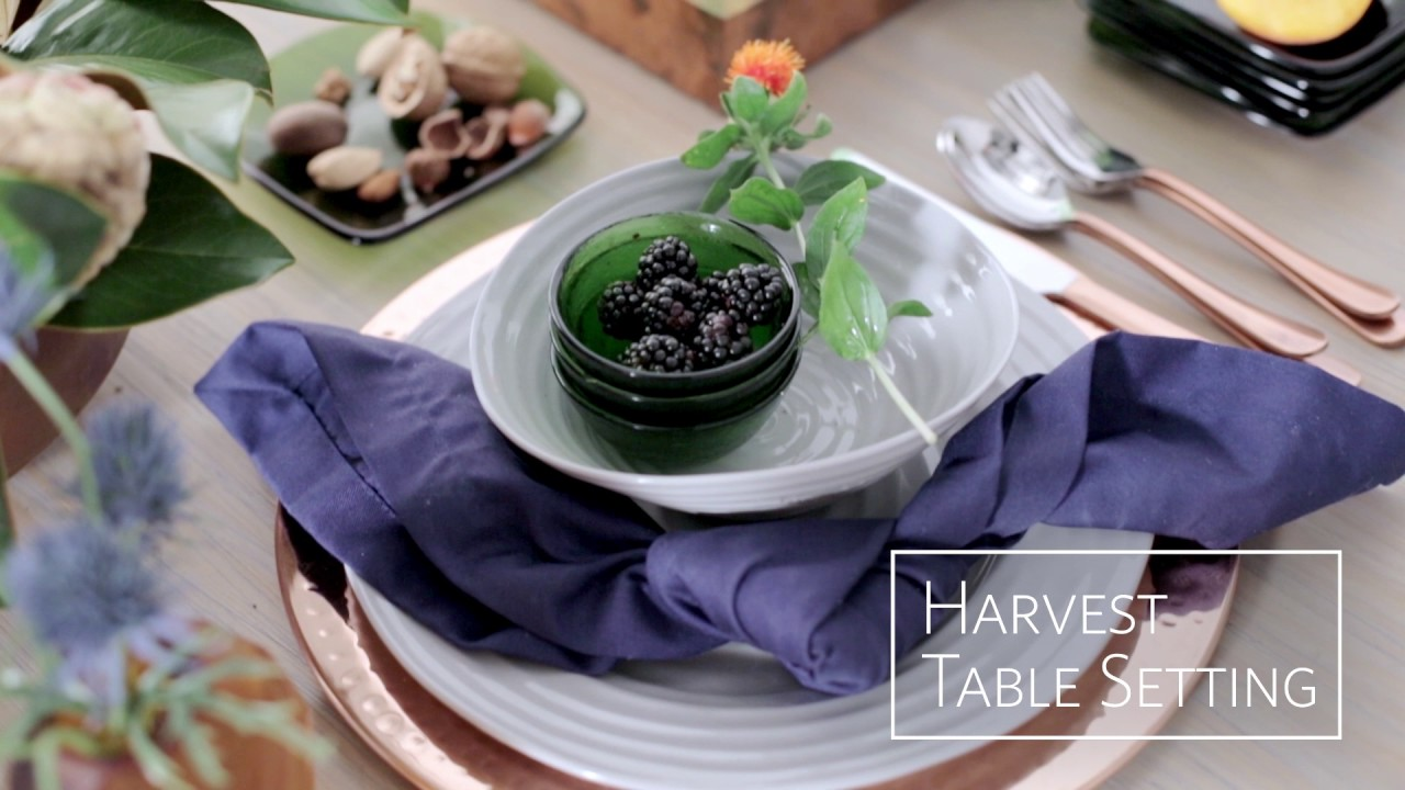 Table Setting Ideas How To Create 3 Seasonal Looks Using Everyday Dishes