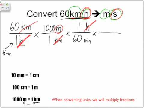 Converting Units - Factor Labelling - Part 2