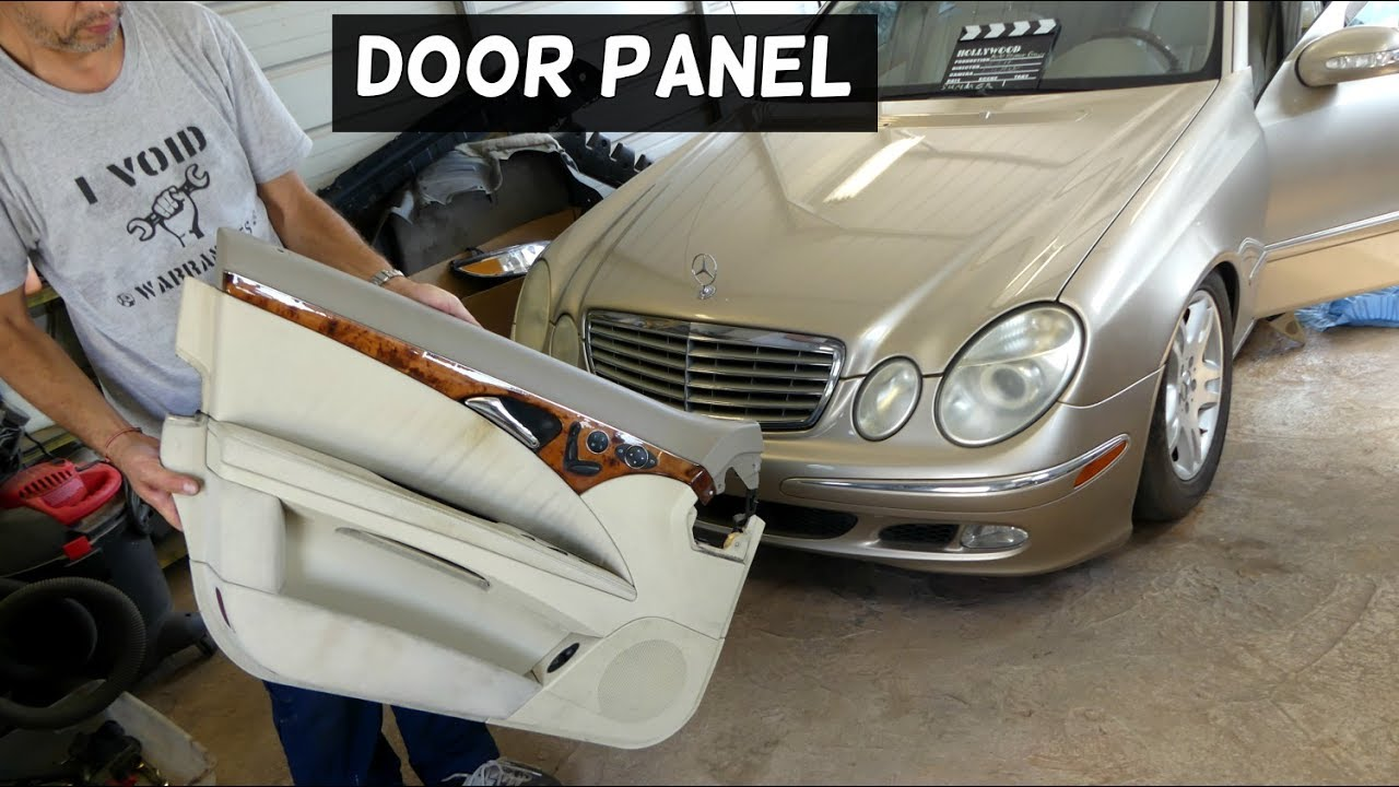Mercedes W211 Front Door Panel Removal Replacement Youtube