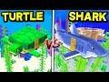 SHARK HOUSE vs. TURTLE HOUSE! - MINECRAFT