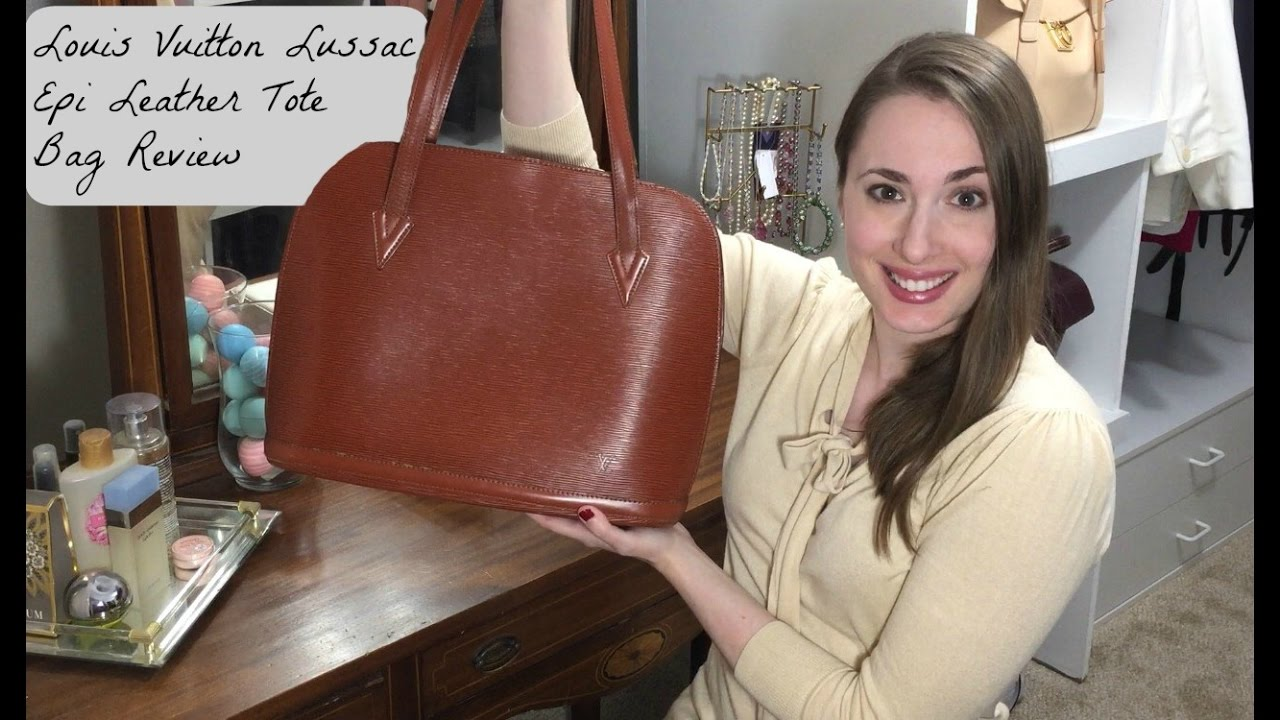 161fe1103b47 Louis Vuitton Lussac Tote in Epi Leather Luxury Designer Bag Review ...