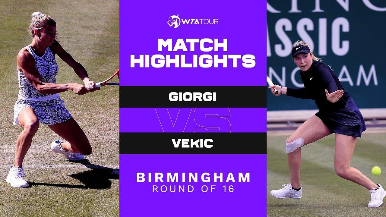 Camila Giorgi vs. Donna Vekic | 2021 Birmingham Round of 16 | WTA Match Highlights
