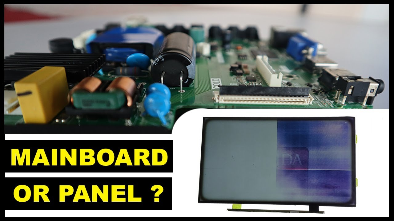 Panel Problem or Mainboard(with built-in T-Con)?
