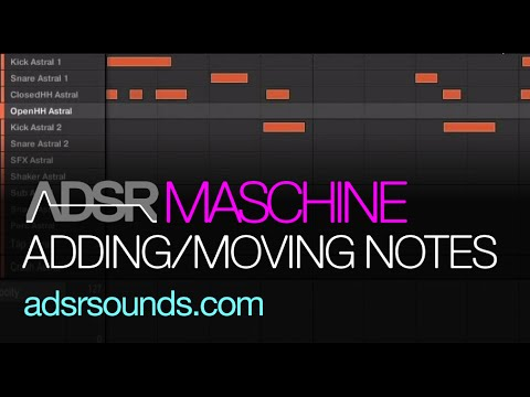 Maschine - Quick Tip #1 - Adding/Moving Notes