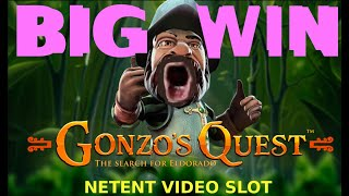 🔥ONLINE SLOT BIG WIN - GONZO'S QUEST 2018 (real money play + free falls!) BONUS IN THE DESCRIPTION