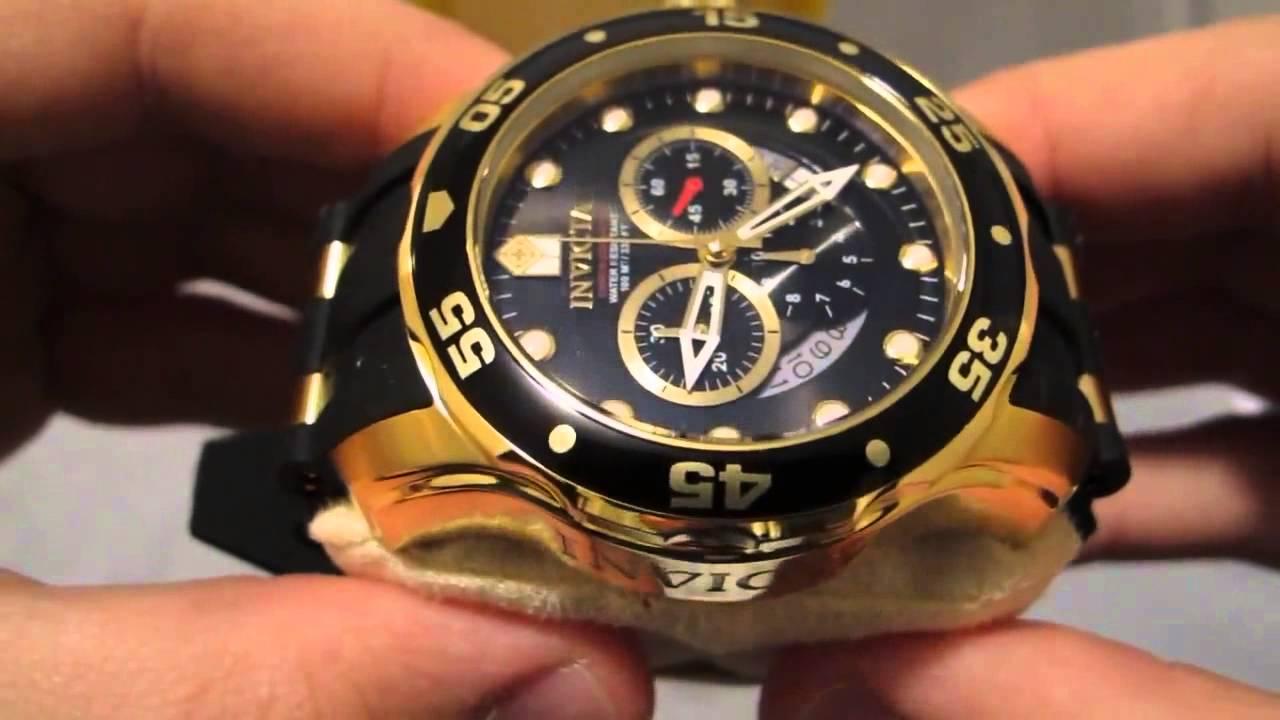 55f3919dd69 Invicta Men s 6981 Pro Diver Collection Chronograph Black Dial Black  Polyurethane Watch