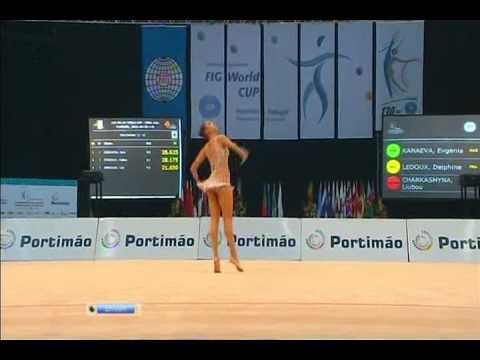 Evgenia Kanaeva- Ball Final-WC Portimao 2011-Russian NTV cov