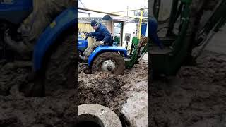 китайский мини трактор LOVOL 244 обзор работы в жёстких условиях