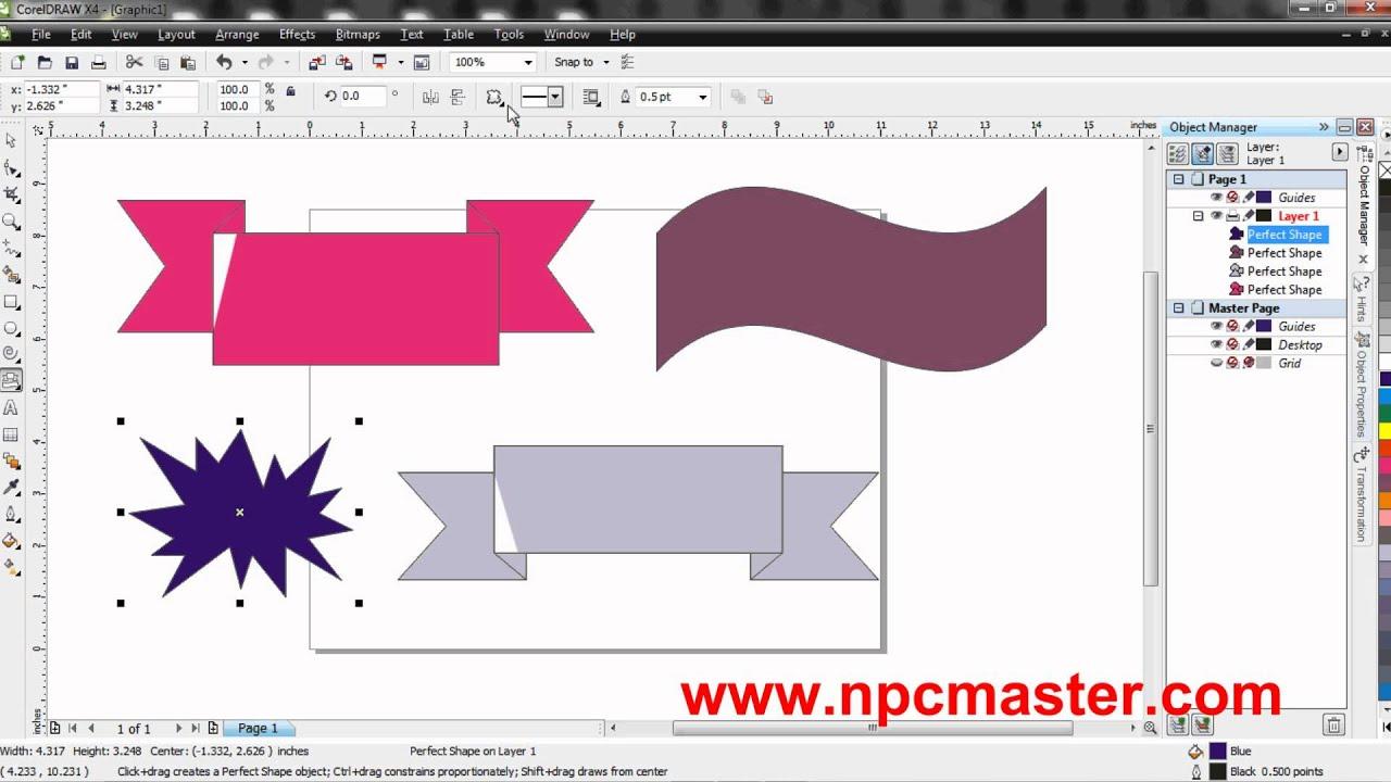 Coreldraw x4 windows 10 - 33 Using The Banner Shapes Tool In Coreldraw X4 Sinhala Hd