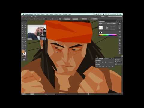 Apache Chief Time-lapse vector art drawing