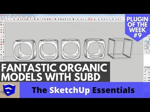 Create Fantastic Organic Models with SubD - SketchUp Plugin of the Week #9 - 동영상