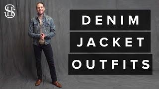 How To Wear A Denim Jacket | 3 Men
