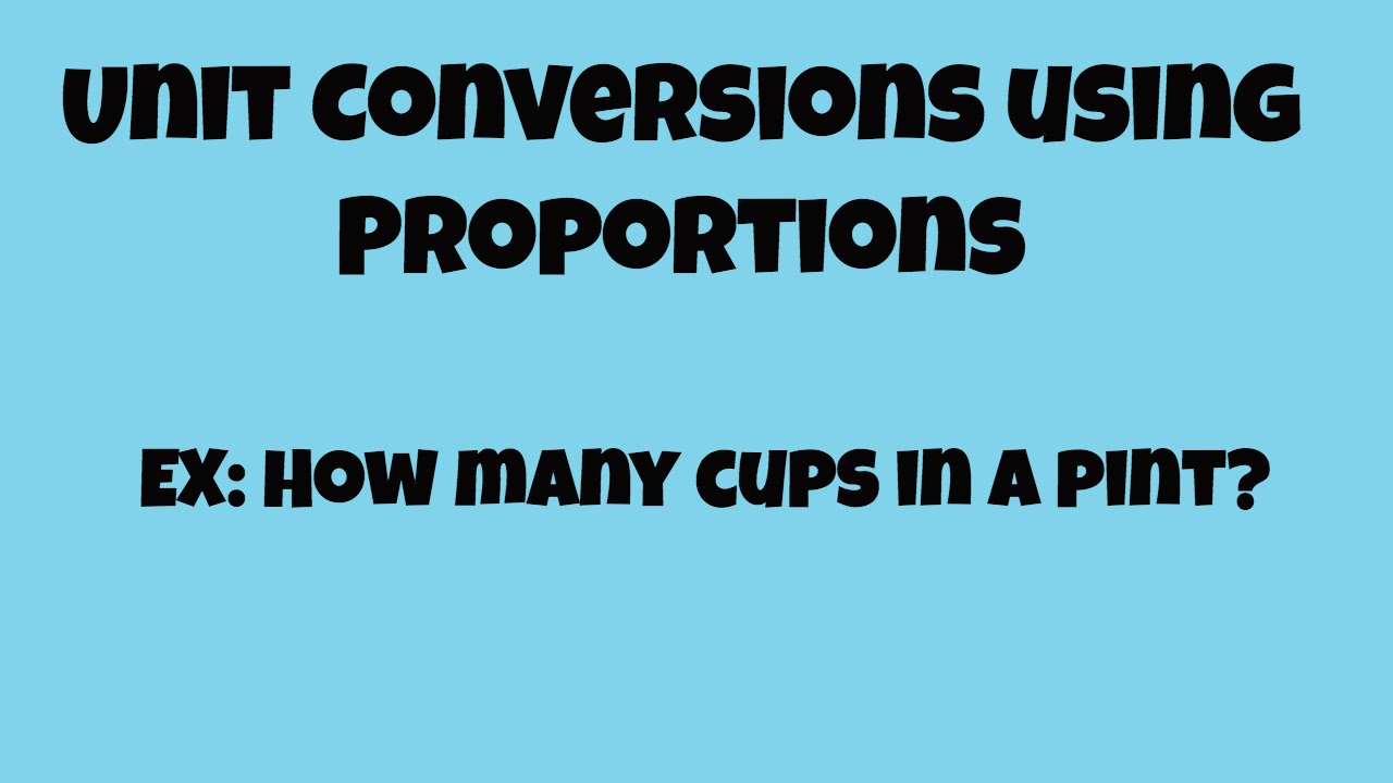 Solving conversions using proportions - YouTube