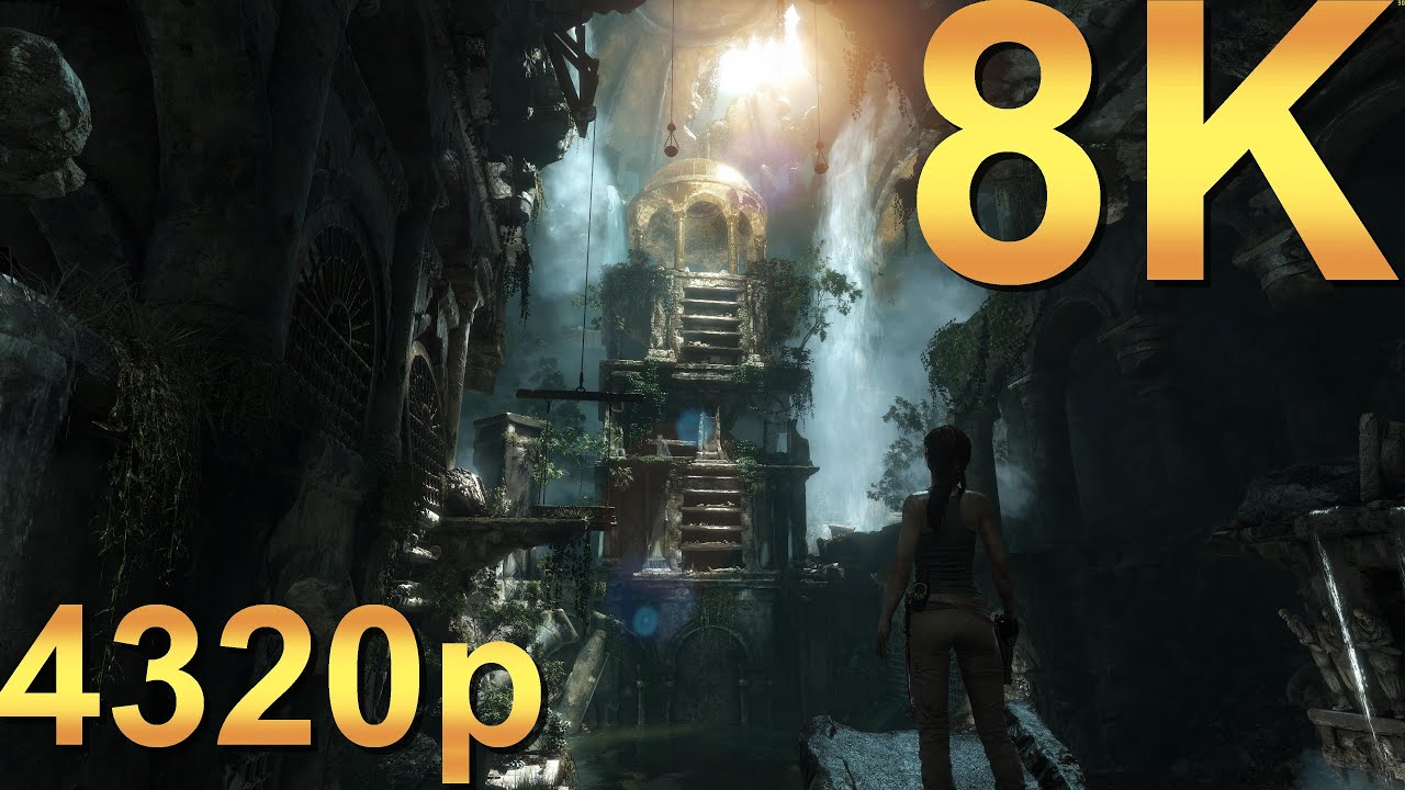 rise of the tomb raider 8k very high 4320p high resolution pc gaming