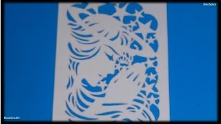 Prayer Angel - Paper Cut Fold Card