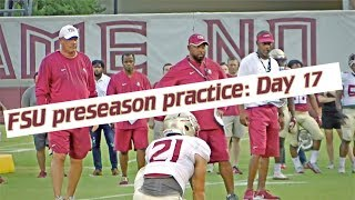 Florida State Football preseason practice, day 17