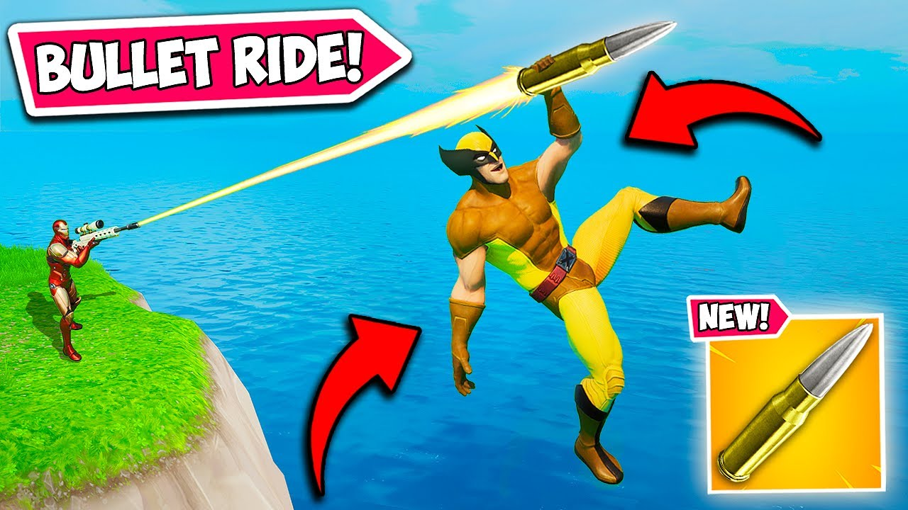 *SUPER RARE* RIDING A SNIPER BULLET!! - Fortnite Funny Fails and WTF Moments! #1056