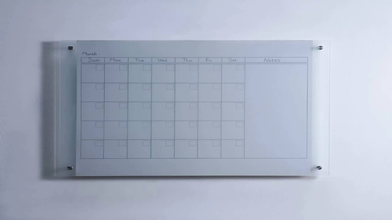 frosted glass dry erase board 35 12 x 47 14 90 x 120 cm with aluminum marke