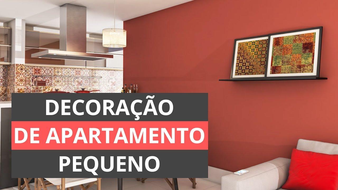 DECORA u00c7ÃO DE APARTAMENTO PEQUENO DICAS E TRUQUES YouTube -> Decoração De Pequenos Apartamentos Fotos