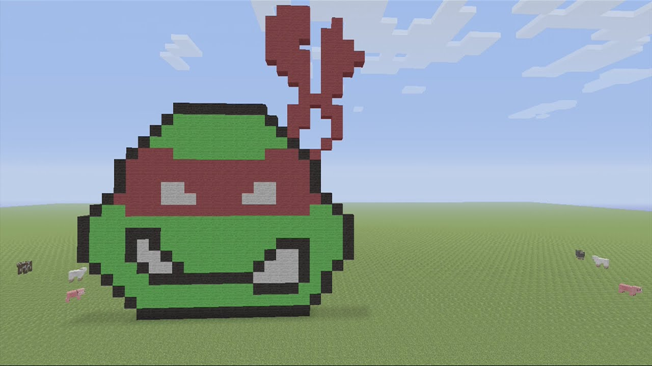 Wonderful Minecraft Ninja Turtle Face Pixel Art Tutorial   YouTube