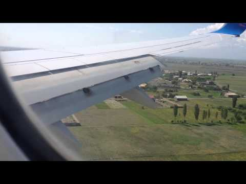 Landing At Yerevan International Airport 05-23-2013, B737-800