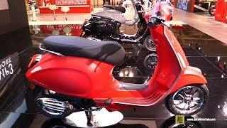 2018 Vespa Primavera S 125 Scooter - Walkaround - 2017 EICMA Milan Motorcycle Exhibition