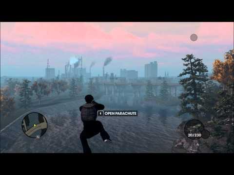 Weird floating in the air glitch in Saints Row The Third