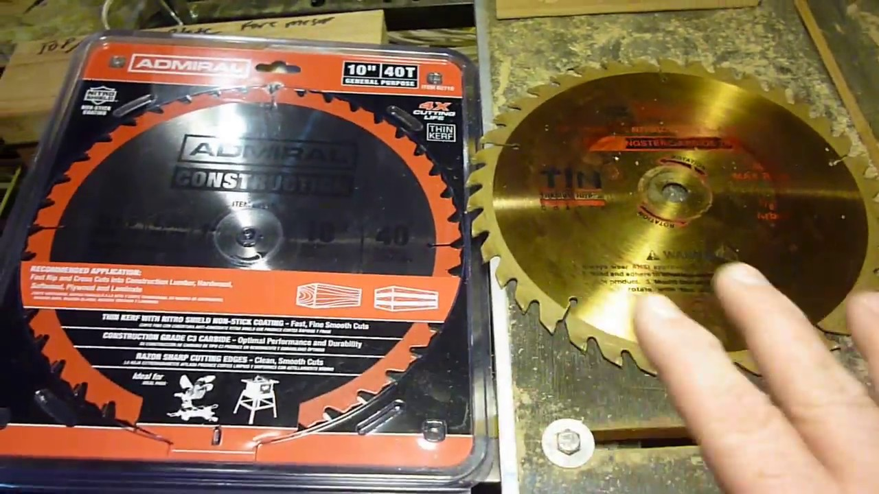 HARBOR FREIGHT OLD VS NEW SAW BLADE REVIEW