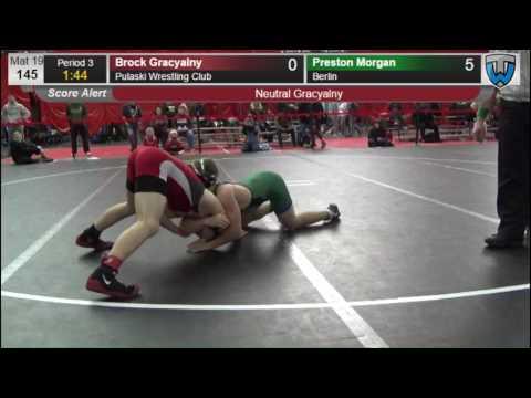 145 Preston Morgan Berlin vs Brock Gracyalny Pulaski Wrestling Club 6476811104