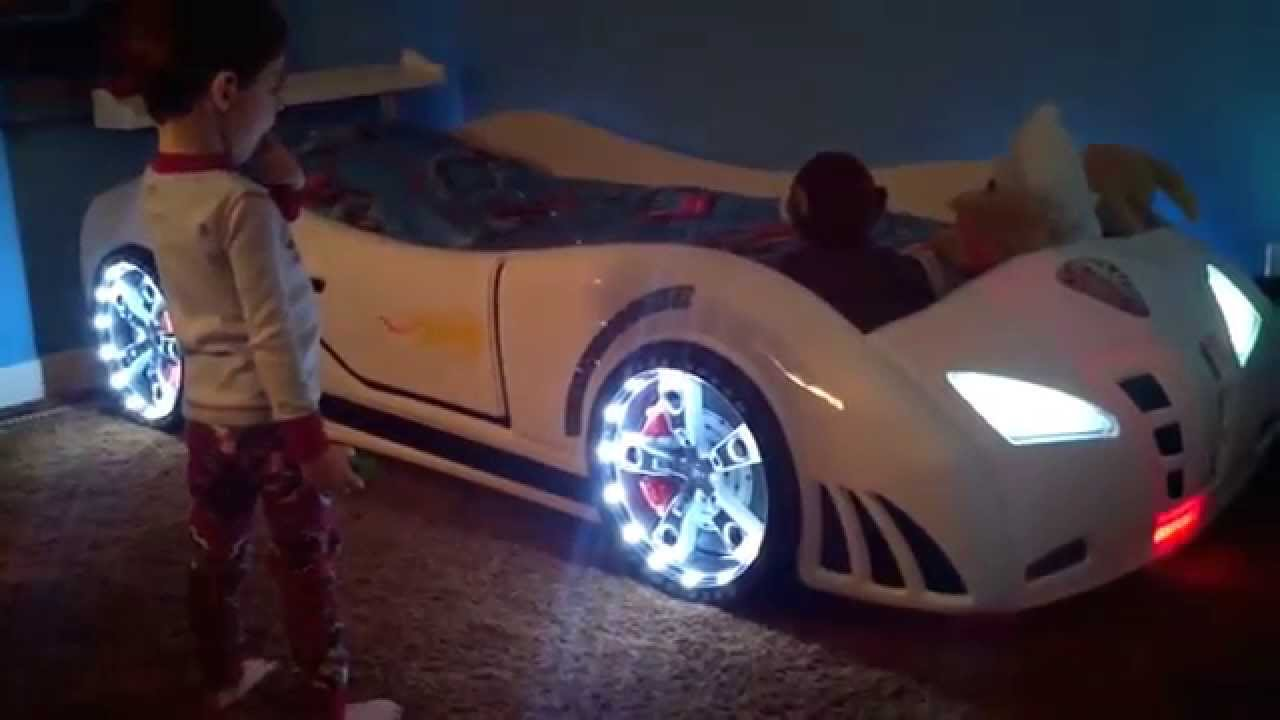 yellow kids race car for twin baja beds red bed