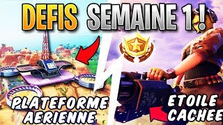 FORTNITE - AERIENNE PLATFORM, AERIEN SILLAGE - FREE PALIER! Week 1 Season 9 Challenge Guide