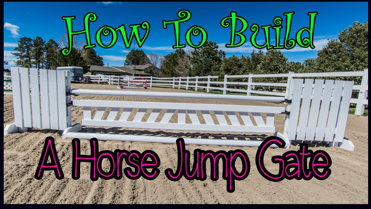 how to build a gate for a horse jump youtube. Black Bedroom Furniture Sets. Home Design Ideas
