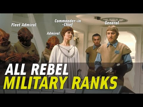 All Rebel Military Ranks and Insignia in Star Wars Canon