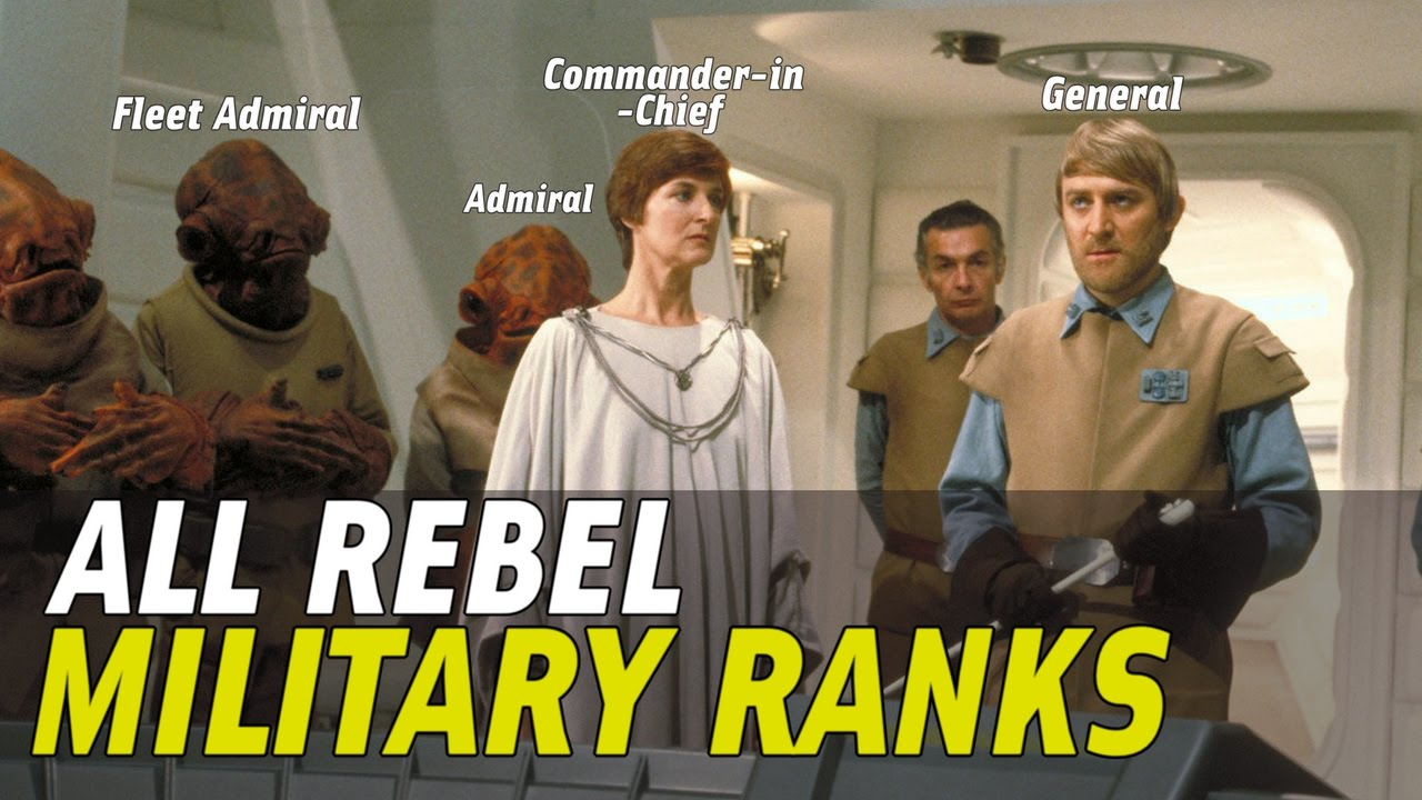 All rebel military ranks and insignia in star wars canon youtube all rebel military ranks and insignia in star wars canon biocorpaavc Images