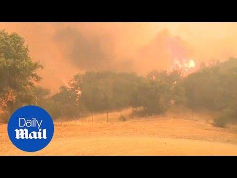 Massive 'Mendocino Complex' wildfire spreads across northern California - Daily Mail