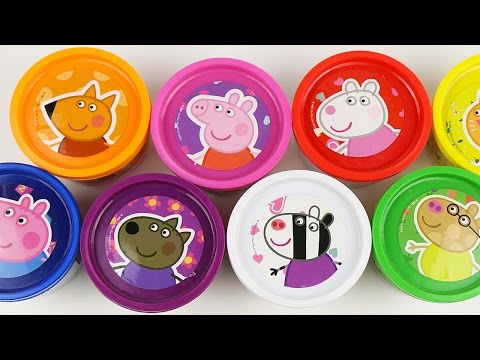 Peppa Pig Cans Play Doh Surprise Eggs doug toys Angry Birds Egg