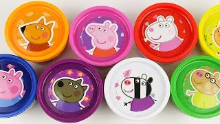 Peppa Pig Cans Play Doh Surprise Eggs doug toys Angry Birds Egg thumbnail