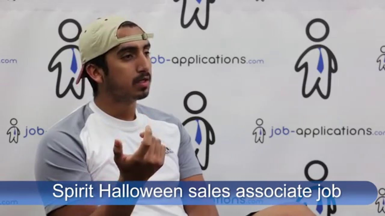 spirit halloween interview sales associate youtube