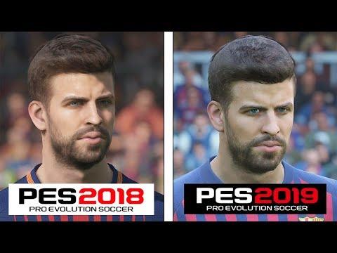 Pro Evolution Soccer   2018 vs 2019   4K Graphics Comparison