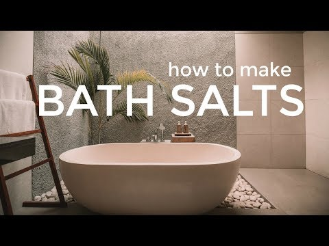How To Make Bath Salts For Homemade Gifts