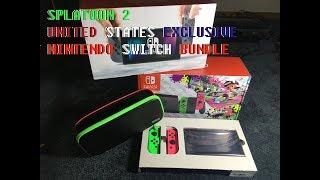 Unboxing US Exclusive Splatoon 2 Nintendo Switch Bundle
