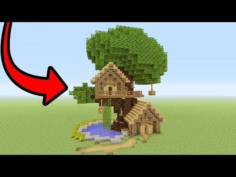 "Minecraft Tutorial: How To Make A Tree Base ""Easy Tree House"""