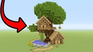 "Minecraft Tutorial: How To Make A Tree Base ""Easy Tree House"""