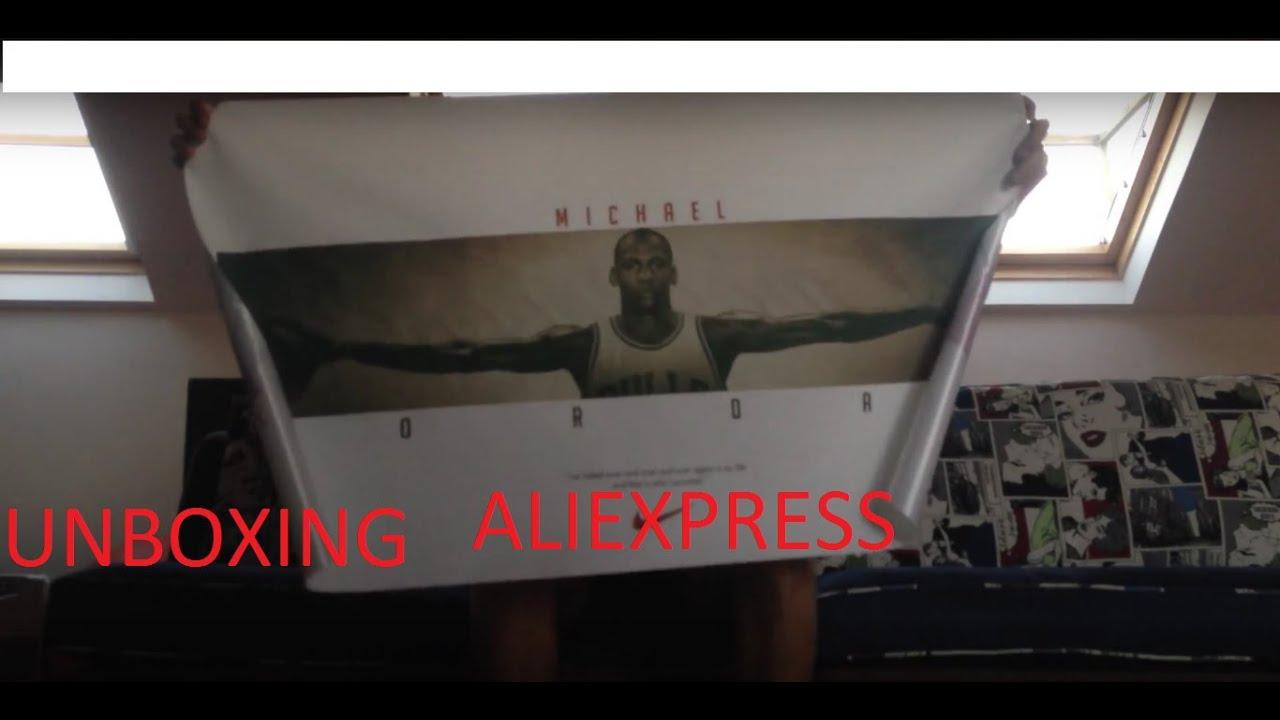 Aliexpress MICHAEL JORDAN WINGS POSTER unboxing - YouTube