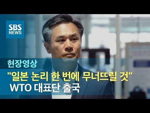 "WTO 대표단 출국…""일본 수출규제 논리 한 번에 무너뜨릴 것""  (현장영상) / SBS"