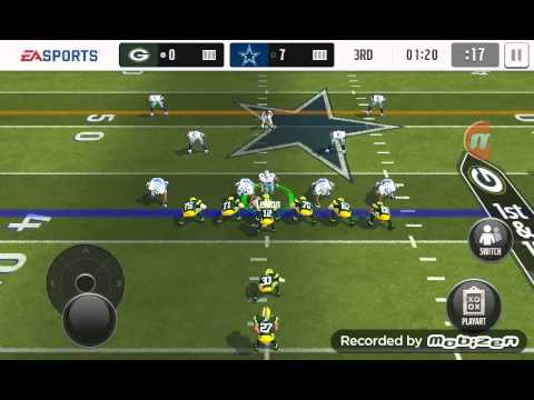 Packers V.S Cowboys Madden mobile gameplay - YouTube