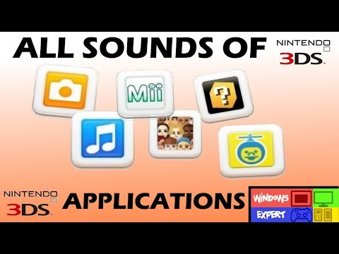 ALL APPLICATION SOUNDS OF NINTENDO 3DS