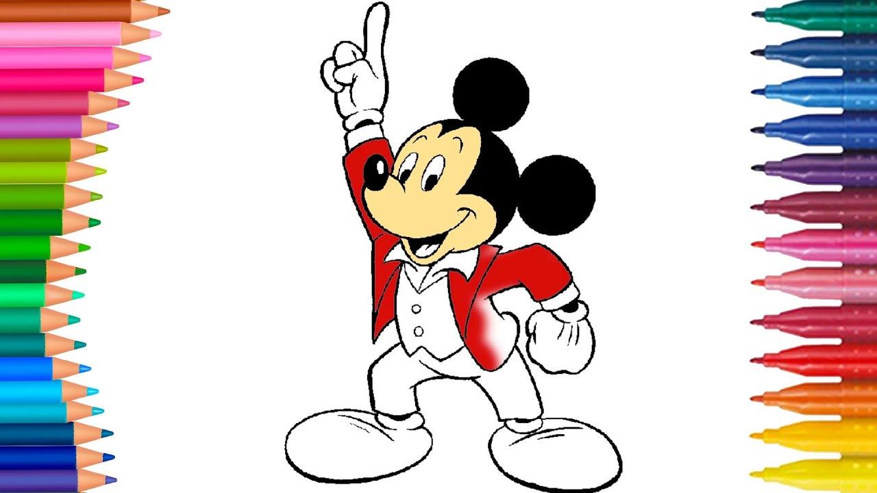 Miki Fare Mickey Mouse Cizgi Film Karakteri Boyama Sayfasi Minik